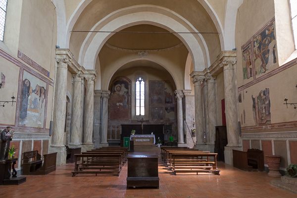 Toskana - Monticchiello - Pieve dei Sant' Leonardo e Cristoforo