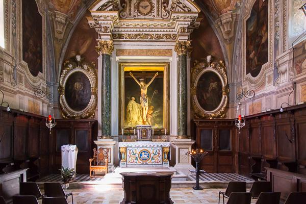Toskana - Monte Oliveto Maggiore - Die Kirche