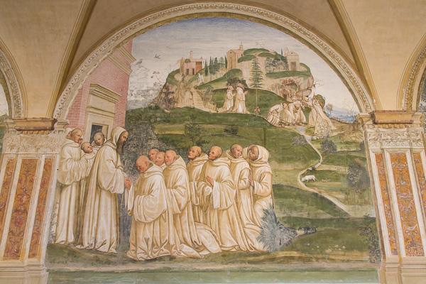 Toskana - Monte Oliveto Maggiore - Der Kreuzgang