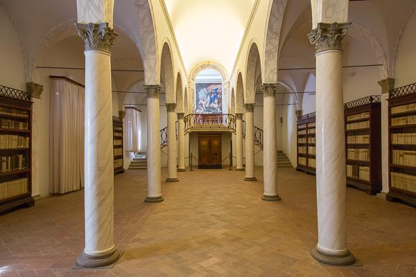 Toskana - Monte Oliveto Maggiore - Die Bibliothek